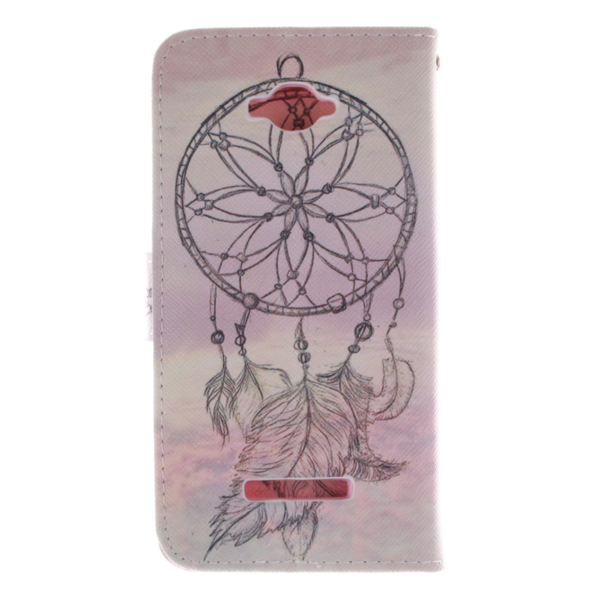 Dreamcatcher Double Painting Filp Leather Cover for Alcatel One Touch POP C7 (Multicolor) (Intl)