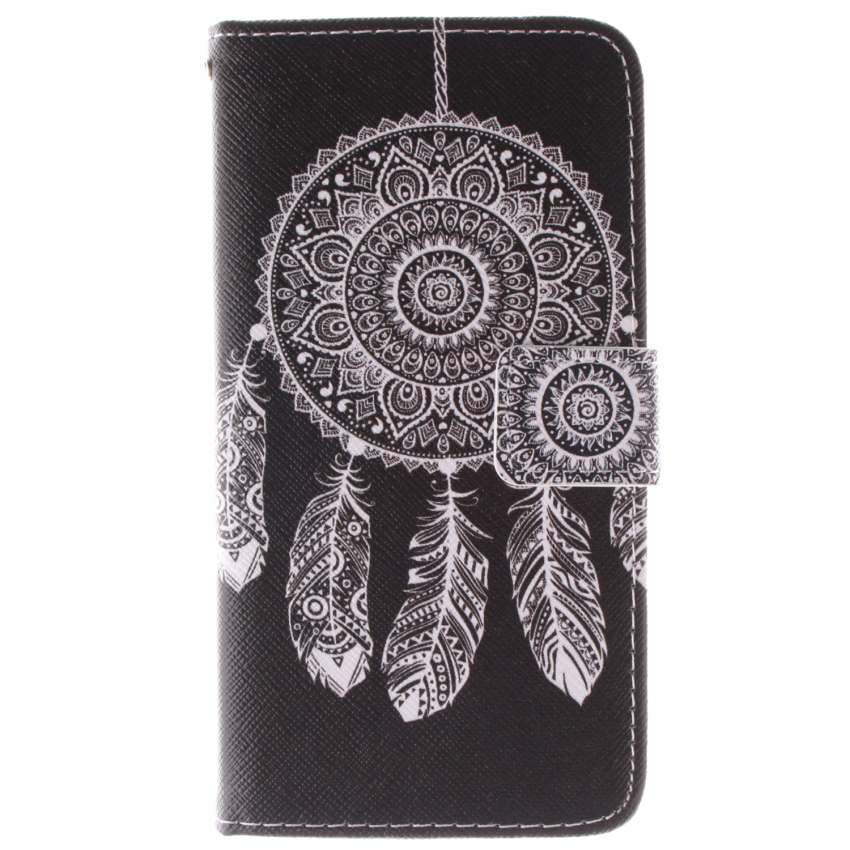 Dreamcatcher Double Painting Filp Leather Cover for Samsung Galaxy A3 (Black) (Intl)