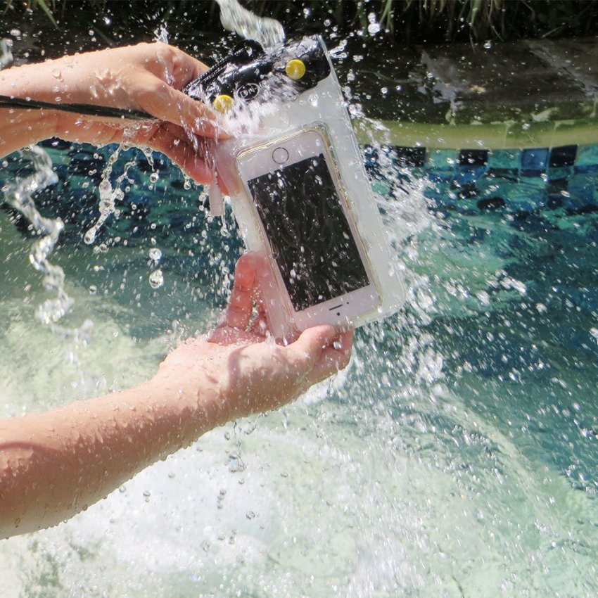 Dri Dock WP10 Waterproof Case HP Besar Anti Air Smartphone - Kuning