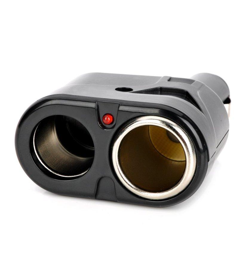 Dual Car Cigarette Sockets Power Adapter - Black (DC 12~24V) (Intl)
