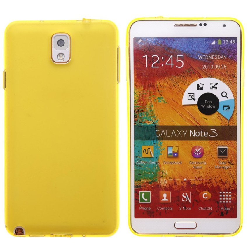 Dull Polished Back Cover for Samsung Note 3 (Yellow)