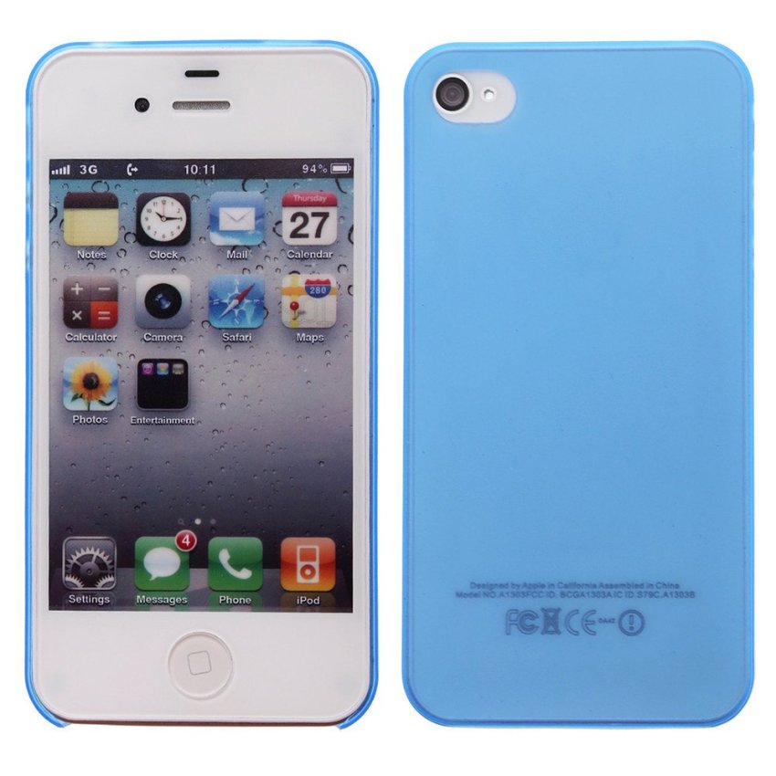 Dull Polished New Back Cover Skin Case For iPhone 4 4S