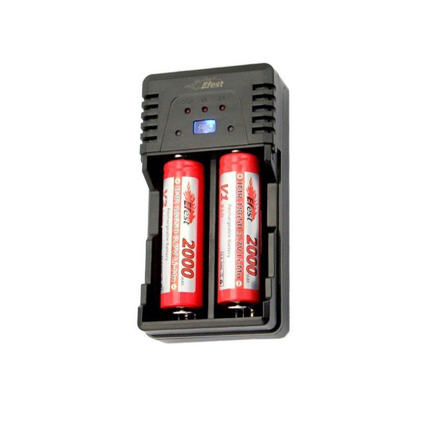 Efest BIO Dual Slot Battery Charger - Hitam