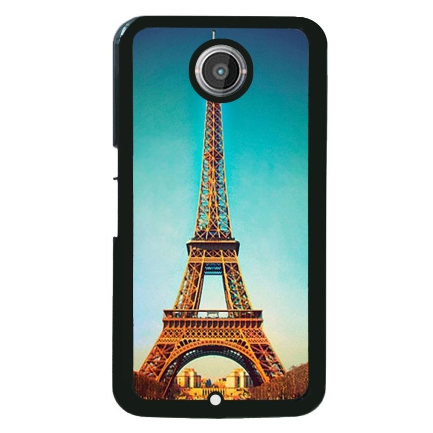 Eiffel Tower Pattern Phone Case for Motorola Nexus 6 (Black)