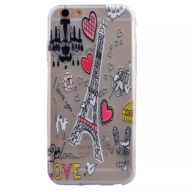 Eiffel Tower TPU Ultra-thin Soft Back Case Cover Shell Protector for Apple iPhone 6 Plus / 6S Plus (Intl)
