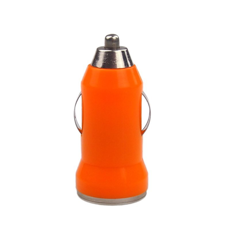 Elenxs Mini USB Car Auto Charger Adapter for iPhone 5 5S 4 4S iPod Touch (Orange) (Intl)