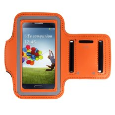 ELENXS Sports Jogging Gym Arm Band Cover Case For Samsung Galaxy S3 / S4 / S5 / M7 Running Cool Nylon Flexible Orange (Intl)