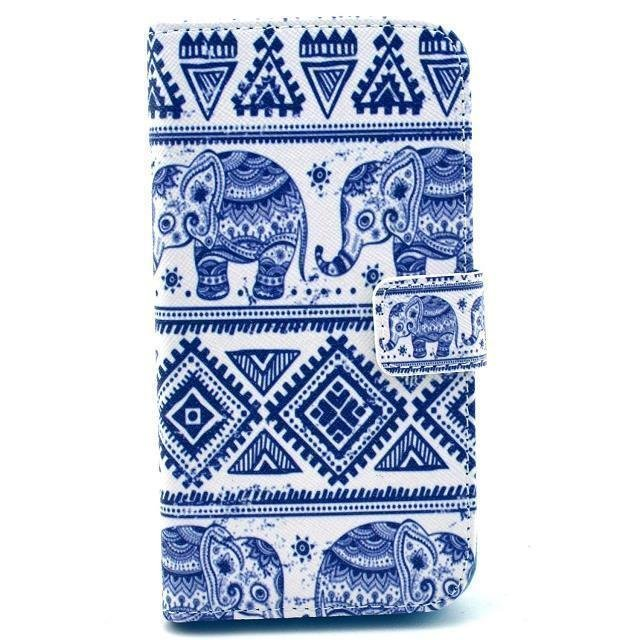 Elephant Leather Protective Case for LG G2 (Blue)