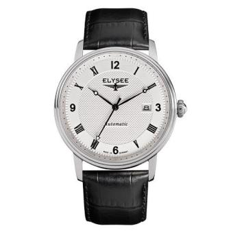 Elysee Male Watches Monumentum Automatic Jam Tangan Pria - Putih - Strap Leather Strap - 77004 (All Size)