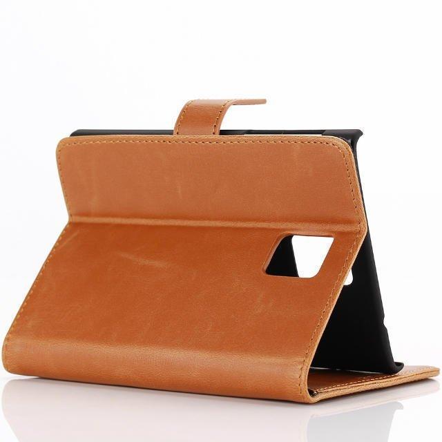 Emco for Blackberry Passport Holster Flip Cover Protector Card Leather Wallet Case - Coklat