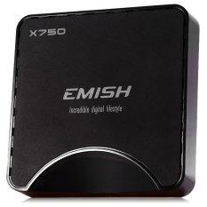EMISH X750 TV Box Amlogic S905 Quad Core Android 5.1 2GB RAM 16GB ROM Pre-installed 2.4G WiFi Bluetooth HDMI