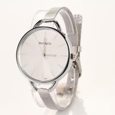 ETOP Gold Silver Quartz Lady Women Wrist Watch (Silver) (Intl)