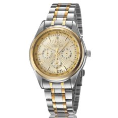 ETOP Watch Gold Men's Fashion Watches Between Luxury Atmosphere Steel Belt Business Men's Watch (WHITE) (Intl)