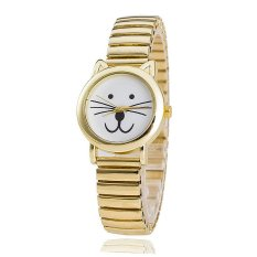 European and American Popular Cat Elastic Band Alloy Watch Fashion Watch Men and Women Couple Watch (Intl)