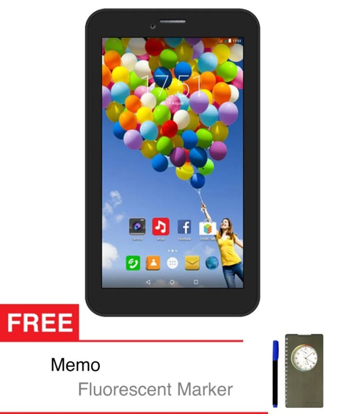 Evercoss Winner Tab S3 - 8 GB - Hitam + Gratis Memo