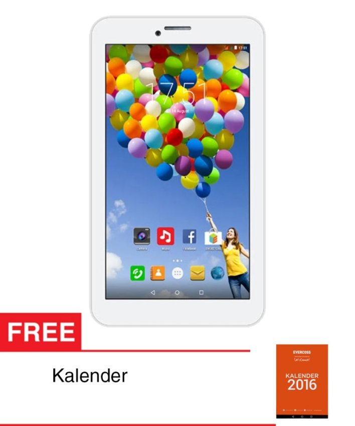 Evercoss Winner Tab S3 - 8GB - Putih + Gratis Kalender