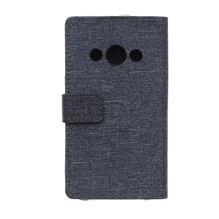 Fabic Grain Flip Cover Case Built-in Card Slot For Samsung Galaxy Xcover 3 G388F (Gray) (Intl)