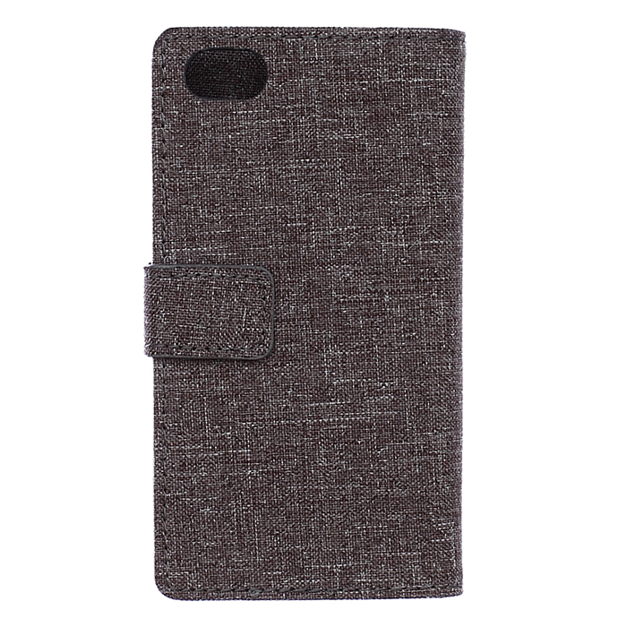 Fabic Grain Flip Cover Case Built-in Card Slot For ZTE Nubia Z5 mini (Gray) (Intl)