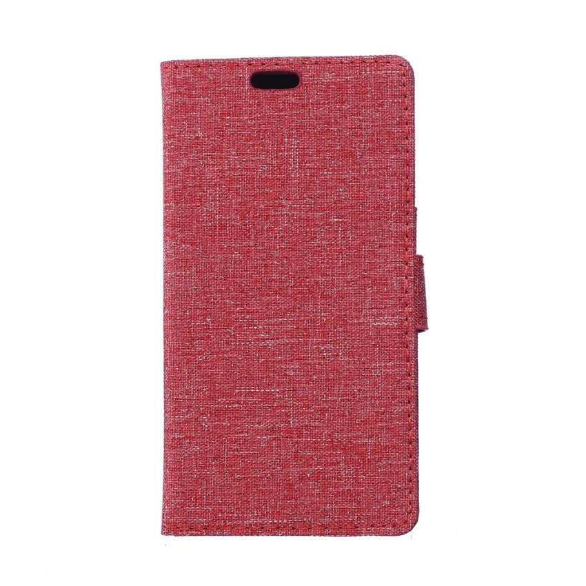 Fabic Grain Flip Cover for ZTE Nubia Z5 mini (Red) (Intl)