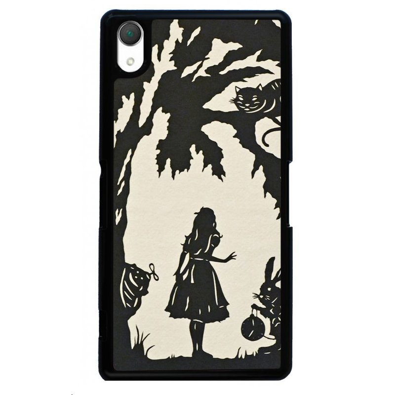 Fairy Tales Silhouette Painting Phone Cover For Sony Xperia Z3 (Black)