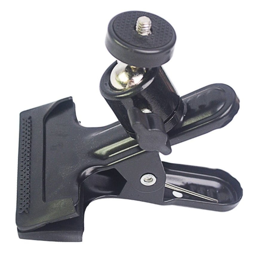Fang Fang Flash Light Stand Spring Clip Clamp (Black)