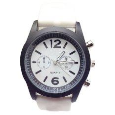 Fashion Boys Girls Ladies Silicone Jelly Gel Quartz Analog Sports Wrist Watches White