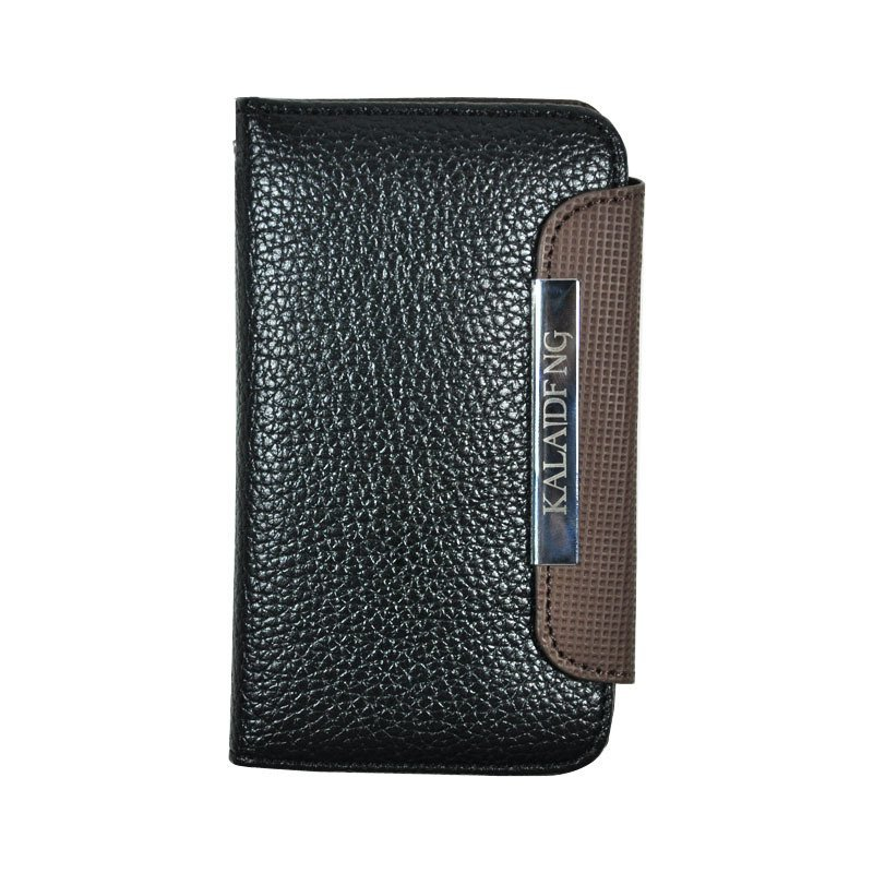 Fashion Card Leiden Leather Case for Iphone 4/4s Black