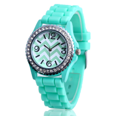 Fashion Casual Wave Pattern Diamond Ladies Watches