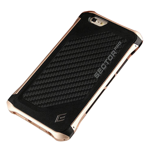 Fashion Luxury Slim Aluminum Metal Frame+Microfiber Back Cover Pro Case for Phone 6 6s Case 4.7 inch (Gold) (Intl)