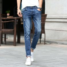 Fashion Men Summer Stretchy Slim Jean Pants 923 (Intl)