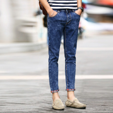 Fashion Men Summer Stretchy Slim Jean Pants 927BL (Intl)