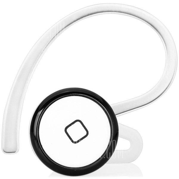 Fashion Mini Wireless Bluetooth Earphone Ear - hook Headset with Mic  -  Putih Hitam