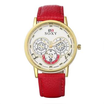 Fashion Women's Leather Watch Quartz Dial Wrist Watch (Intl)