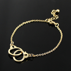 Feelontop Wholesale Gold And Silver Color Alloy Cute Handcuffs Link Chain Bracelets For Women Fashion Design (Intl)