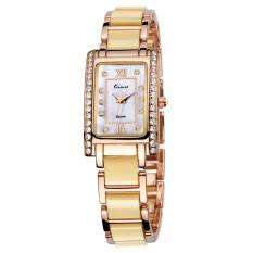 Fehiba KIMIO Female Form Fashion Casual Square Watch Bracelet Watch Quartz Watch Students KW510S (Gold)