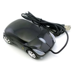 Ferrari Car Shaped Optical USB Mouse (Black) - Intl