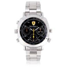 Ferrari Silver 720P HD SPY Watch Hidden Camera Waterproof 8GB (Intl)