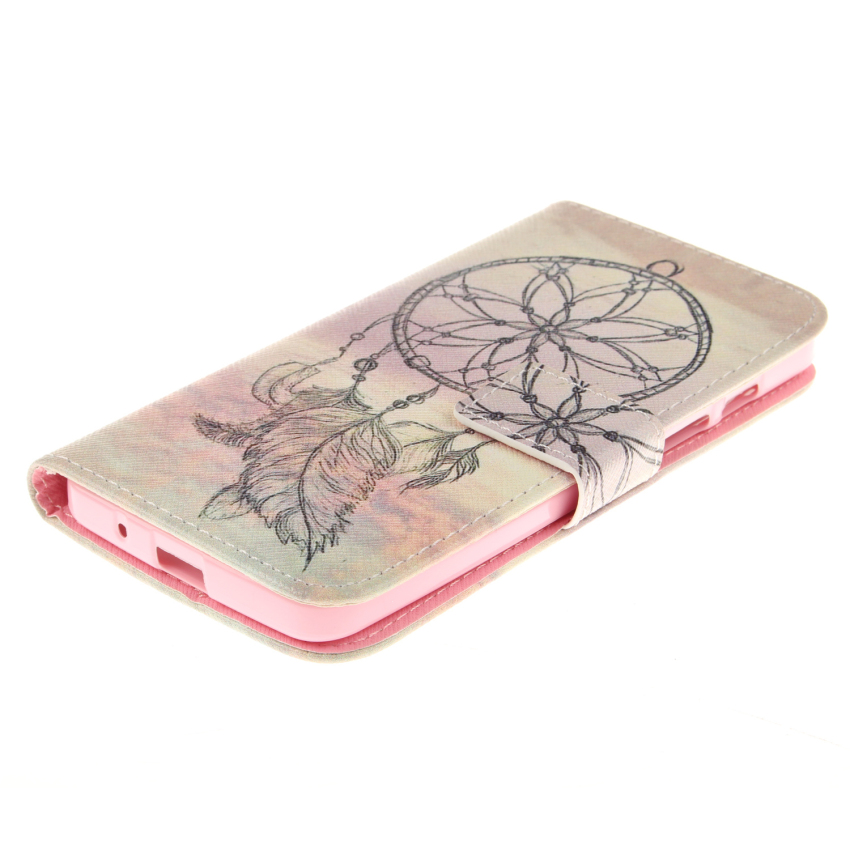 Filp Leather Case Built in Card Slot With Dreamcatcher Double Painting for Asus Zenfone 5 (Multicolor) (Intl)