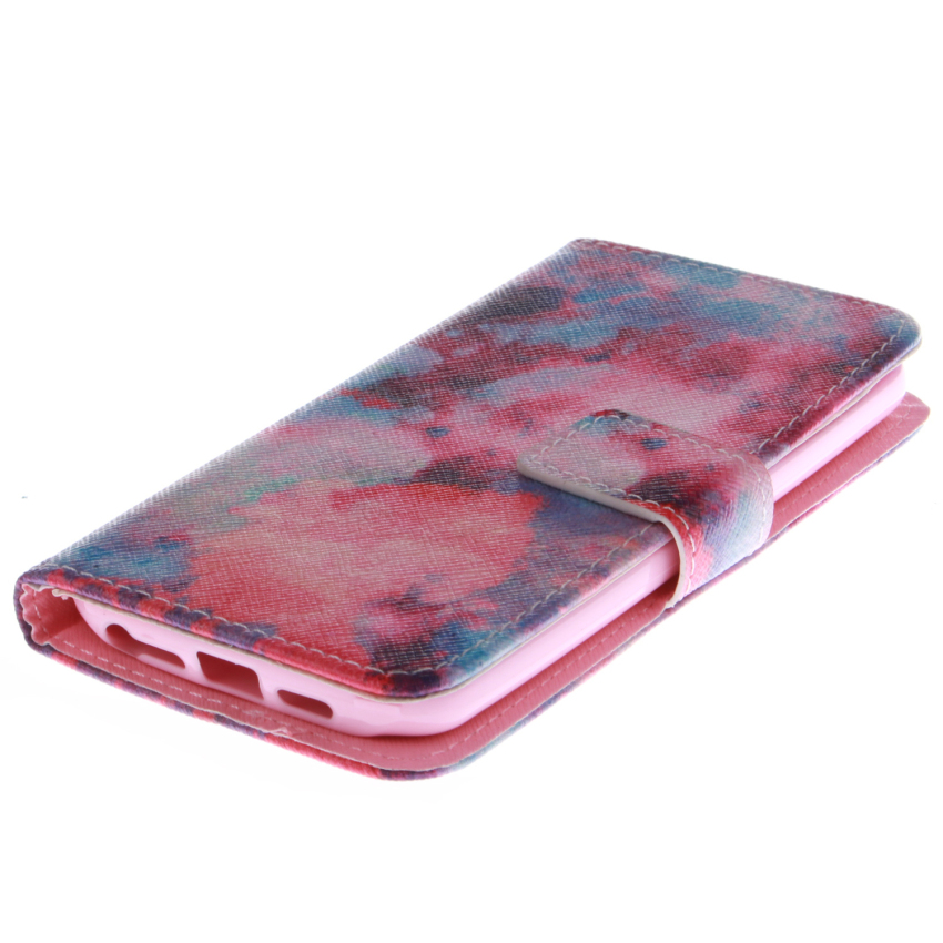 Filp Leather Case Built in Card Slot With Red Sky Double Painting for LG G2 (Multicolor) (Intl)
