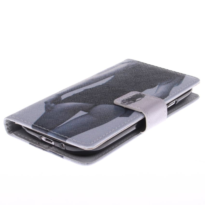 Filp Leather Case Built in Card Slot with Sexy Gilrl Double Painting for Samsung Galaxy S3 (Black) (Intl)