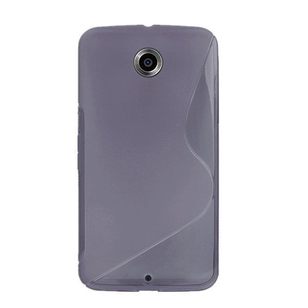 Flexible TPU Gel Rubber Back Cover Case For Motorola Google Nexus 6 New Gray