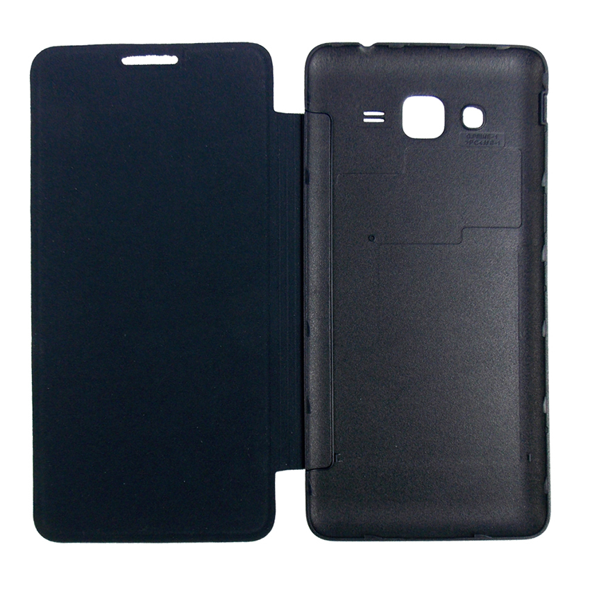 Flip Cover Back for Samsung Galaxy J1Ace /J110 - Hitam