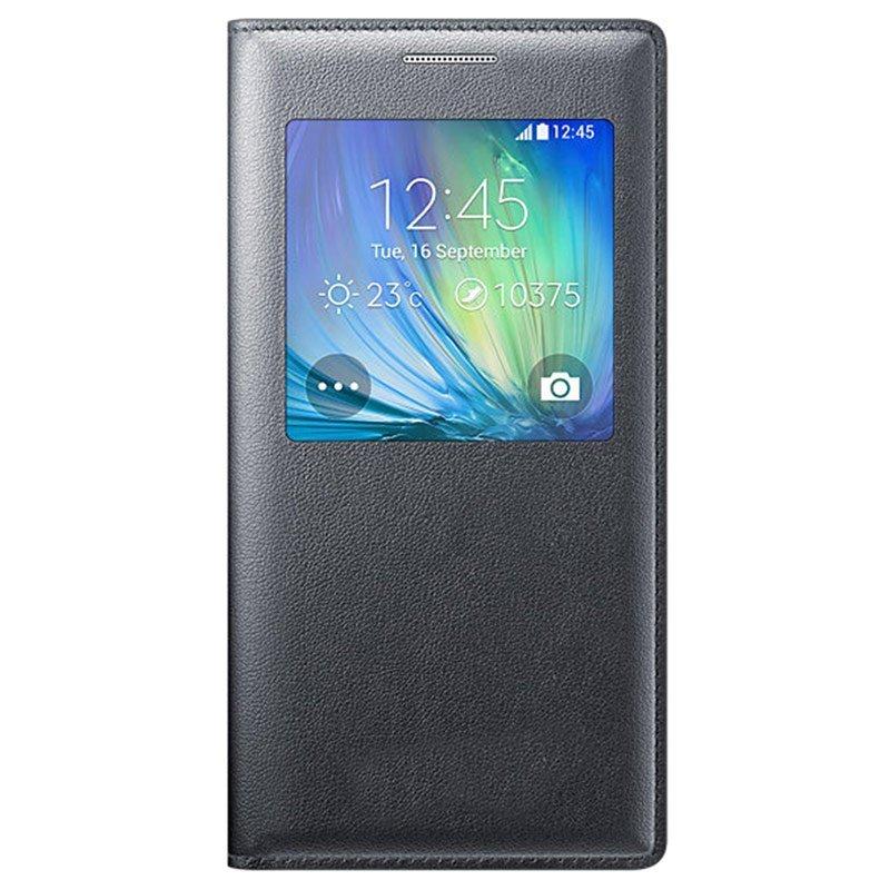 Flip Cover Samsung Galaxy A5 / A510 2016 Flip Fiew Cover - Hitam