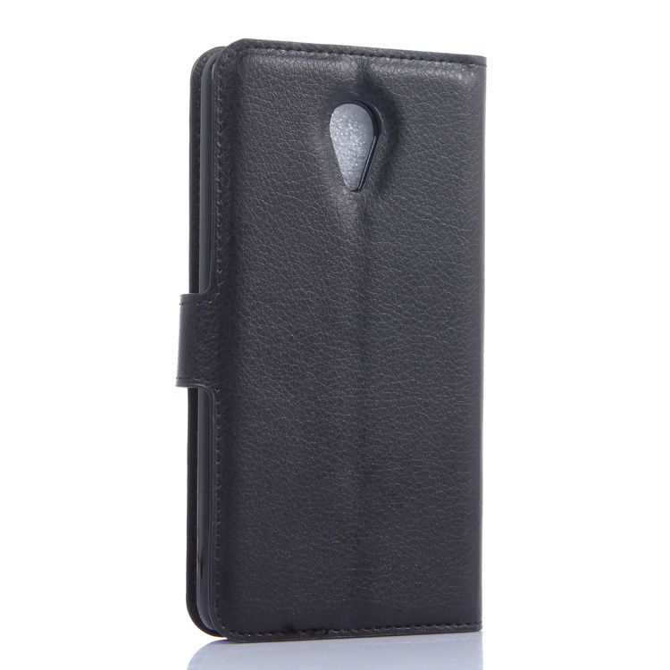 Flip Leather Cover for Meizu M1 Note (Black) (Intl)