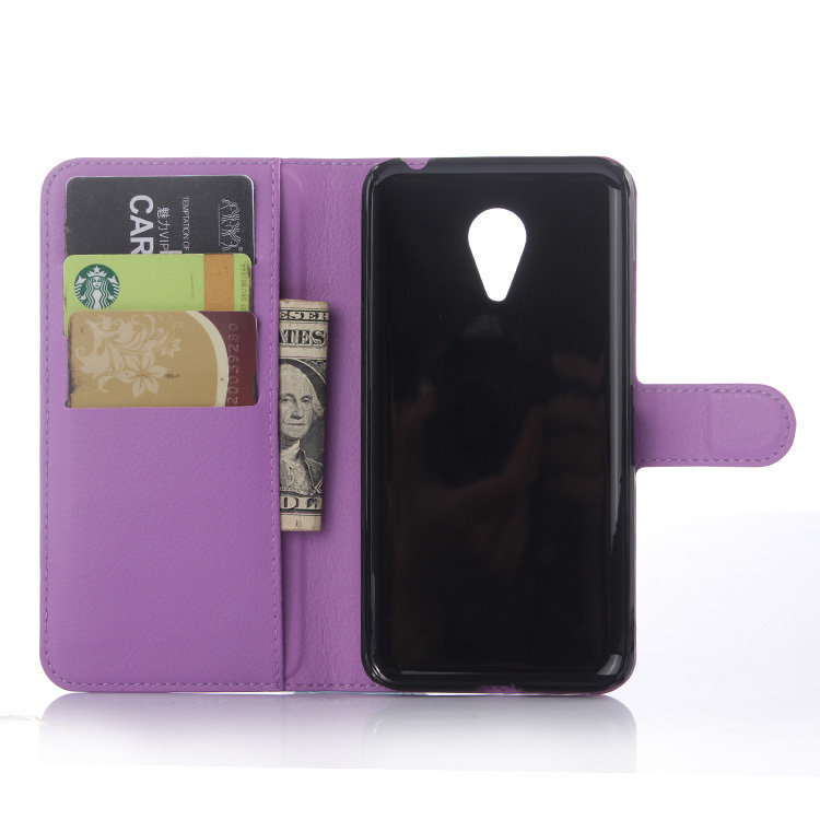 Flip Leather Cover for Meizu MX5 (Purple) (Intl)