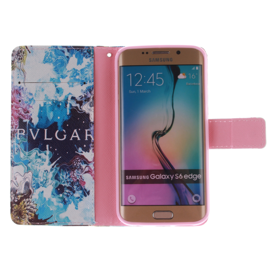Flip Leather Cover for Samsung Galaxy S6 Edge (Multicolor) (Intl)