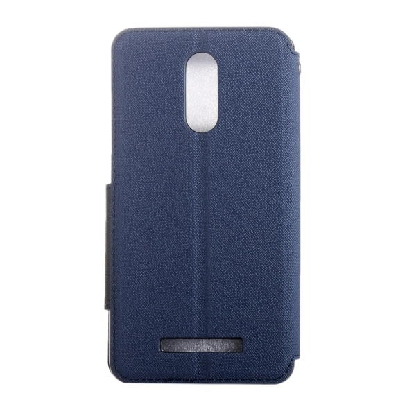 Flip Leather Cover with Call Display ID and Holder and Card Slots for Xiaomi Redmi Note 3(Dark Blue) (Intl)