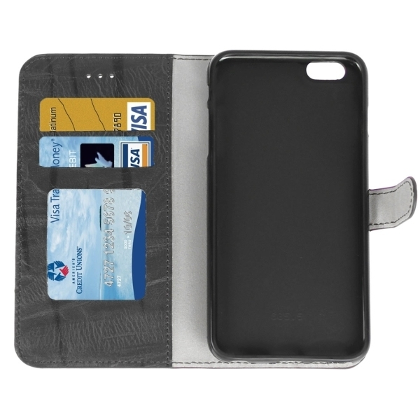 Flip PU leather Cover with Card Slot & Holder for iPhone 6 & 6S(Black) (Intl)