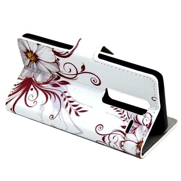 Flower Buds Pattern Leather Flip Cover for LG Class/LG Zero (White) (Intl)