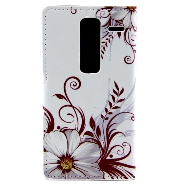 Flower Buds Pattern Leather Flip Cover for LG Class/LG Zero (White) (Intl)